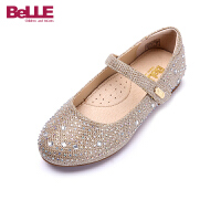 【119元任选2双】百丽Belle童鞋中小童皮鞋子特卖童鞋休闲鞋(5-12岁可选)DE0220