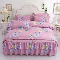 新款床上用品简约床裙四件套韩版床罩被套床单双人
