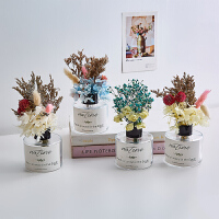 北欧玻璃花瓶摆件创意干花插花装饰品家居客厅卧室桌面小摆设