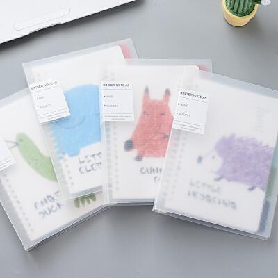 优凡b5活页本透明淡彩学生a5可替芯记事本折扣创意大日记本子文具