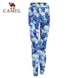 camel骆驼运动女款针织长裤 春夏透气瑜伽健身针织裤