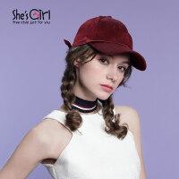 She's Girl茜子 纯色时髦丝绒帽子 街头日韩潮棒球帽 鸭舌帽子女 服装配饰礼物