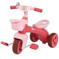 宝丽儿童三轮车脚踏车宝宝童车1-3岁溜娃神器幼儿小孩手推自行车
