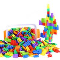 大号火箭子弹头拼插拼装塑料积木 幼儿童益智力3-6周岁男女孩玩具