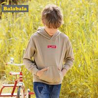 巴拉巴拉男童长袖T恤中大童儿童卫衣秋装2017新款时尚字母连帽衫