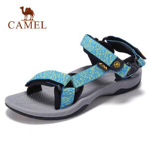 骆驼牌情侣鞋 2017夏季新品情侣款耐磨透气户外沙滩鞋露趾凉鞋