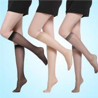 1双浪莎超薄中筒丝袜夏防勾丝透明中统中长半截短袜子女小腿肉色丝袜