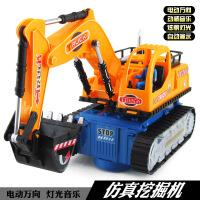 热销电动玩具车工程车挖土车模型音乐灯光万向挖掘机儿童玩具