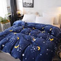 家纺法兰绒单件被套床上用品1.8米单独被套珊瑚绒被套