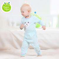 【夏季清仓 低至19元起】Gagou Tagou婴幼儿男女宝宝纯棉素色两用裆裤子秋裤GT1601K3009