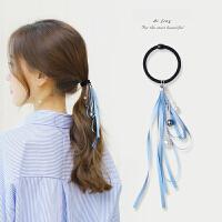 发饰头绳发圈甜美丝带头饰花朵飘带发绳粗皮筋扎头发马尾饰品