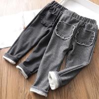 女童休闲裤冬季宝宝格子保暖弹力小脚裤儿童棉裤童装