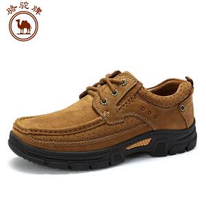 骆驼牌工装磨砂牛皮鞋男 秋季大休闲优质牛皮舒适耐磨