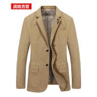 战地吉普AFS JEEP西装男 男士秋季新款单款西服外套 男装时尚休闲韩版纯棉小西装潮