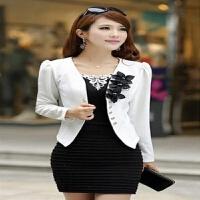 装大码韩版小外套秋装中年女士修身短款上衣薄款外搭春秋女装西服