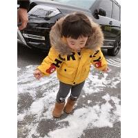 男宝宝棉衣小童大毛领冬装外套儿童保暖棉袄