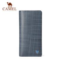 Camel/骆驼男士真皮长款钱包韩版时尚竖款牛皮钱夹男青年正品卡包