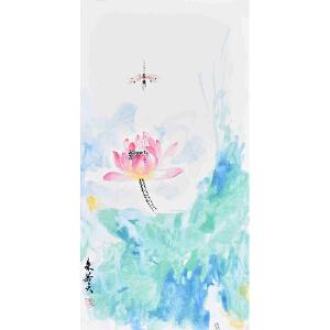 【卡纸】当代花鸟画家 朱老师  65 X 33CM 《凝露》 HN12756