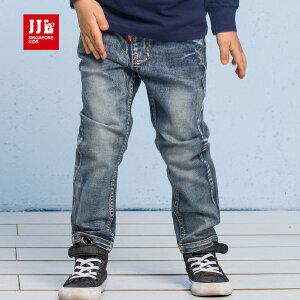 jjlkids季季乐童装男中童时尚休闲牛仔裤松紧裤腰春季新款棉长裤BCK63056