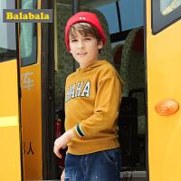 巴拉巴拉男童长袖T恤中大童儿童卫衣秋装2017新款时尚休闲连帽衫