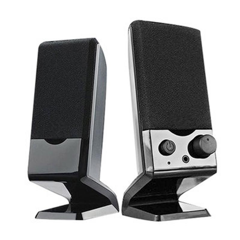 台式电脑音箱笔记本便携小音响低音炮USB2.0迷你家用小音箱重低音 黑色