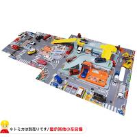小车便携轨道套男孩玩具小镇声效立体地图手提包