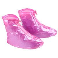 捷�N防水防滑雨鞋套加厚平底男女防雨鞋套雨靴