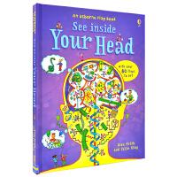 Usborne See Inside Your Head 看里面你的大脑 科普翻翻纸板书英语版 儿童英文原版图书进口