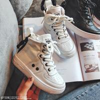 秋冬儿童运动鞋加绒板鞋女童保暖小白鞋