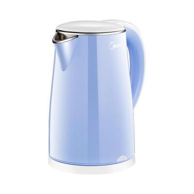 Midea/美的 电水壶 热水壶 电热水壶 304不锈钢 1.7L容量 双层防烫 烧水壶 WHJ1705C 1.7L STRIX温控器 下斜式壶嘴 不锈钢聚水环