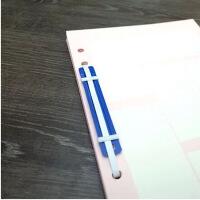办公用品 彩色塑料装订夹 两孔装订条 二孔 装订扣