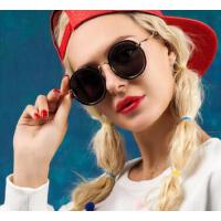 圆框太子蛤蟆镜潮女 太阳眼镜 圆形黑色女士墨镜 支持礼品卡