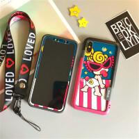 黑超Biphonex苹果X彩膜XR/XS MAX手机壳iphone 8plus边框7贴膜 X/Xs 5.8寸奶嘴玫红蓝