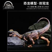 【扶姿双冠龙】恐龙玩具仿真恐龙模型男孩仿真动物霸王龙三角龙 生日礼物六一圣诞节新年礼品