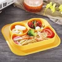 硅胶餐盘一体式儿童餐垫宝宝吃饭辅食碗卡通分格餐具带吸盘防摔