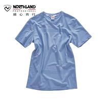 【顺心而行】NU诺诗兰户外夏季新款男士时尚排汗快干短袖T恤KL075309