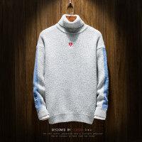 新款韩版加厚个性冬季男士学生毛衣小清新高领打底衫线衫线衣潮流
