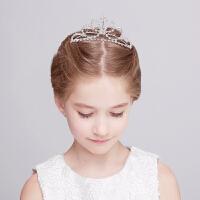 儿童皇冠头饰公主发饰儿童演出头饰发箍女童头饰王冠珍珠头箍