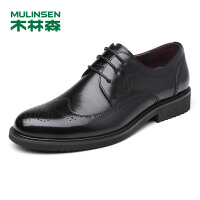 木林森男鞋 秋季新款皮鞋男布洛克雕花男鞋男士皮鞋商务休闲鞋 77053005