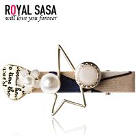 皇家莎莎RoyalSaSa刘海夹鸭嘴夹一字夹韩国复古花朵发夹边夹侧夹发饰头饰HFS509392