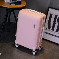 密码箱子行李箱男皮箱拉杆箱女小清新韩版大学生24寸万向轮旅行箱 粉红色 【升级刹车轮款】