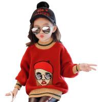 童装女童卫衣秋装儿童大童春秋打底衫秋季保暖上衣潮