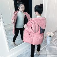 女童棉衣冬装儿童外套长款女孩棉袄