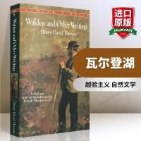 华研原版 瓦尔登湖 英文原版 Walden and Other Writings 梭罗作品集 英文版文学小说 正版进口
