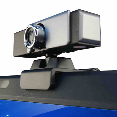 高清电脑摄像头台式带麦克风话筒免驱笔记本家视频免驱动 即插即用 黑色 内置麦克风