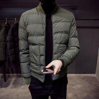 棉衣男冬季外套男士韩版潮流加厚棉袄立领冬衣修身短款冬装帅