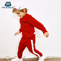 【满200减40/满300减80】迷你巴拉巴拉男童休闲运动套装2018秋新款童装男宝纯棉长袖2件套
