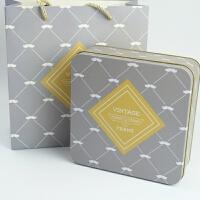 6套长宽17.5厘米16格正方形罐创意9宫格饼干包装盒结婚礼盒铁盒子