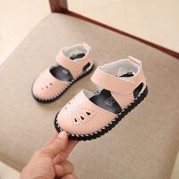 2018夏季新款儿童鞋子女童包头凉鞋软底沙滩鞋宝宝1-3-6岁公主鞋