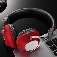 BaaN 无线耳机头戴式蓝牙耳机重低音降噪音乐耳机hifi立体声手机游戏耳机耳麦通用 中国红